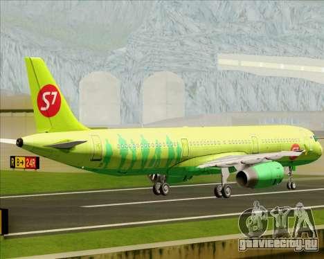 Airbus A321-200 S7 - Siberia Airlines для GTA San Andreas вид сзади
