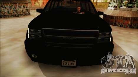 GTA 5 FIB Granger для GTA San Andreas вид сзади слева