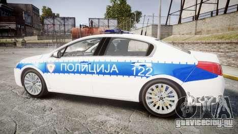 Peugeot 508 Republic of Srpska [ELS] для GTA 4 вид слева