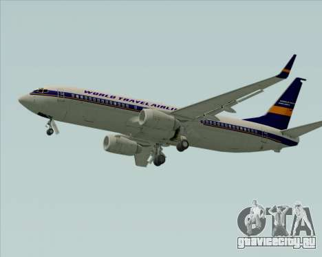 Boeing 737-800 World Travel Airlines (WTA) для GTA San Andreas вид сзади