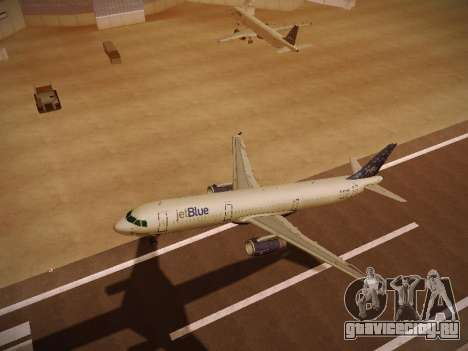 Airbus A321-232 Lets talk about Blue для GTA San Andreas вид сверху