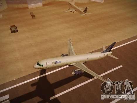 Airbus A321-232 Lets talk about Blue для GTA San Andreas вид сверху