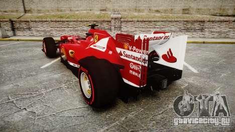 Ferrari F138 v2.0 [RIV] Massa TSSD для GTA 4 вид сзади слева