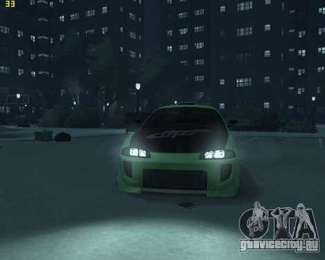 Mitsubishi Eclipse from Fast and Furious для GTA 4 вид справа