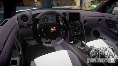 Nissan GT-R R35 Nismo для GTA 4 вид сзади