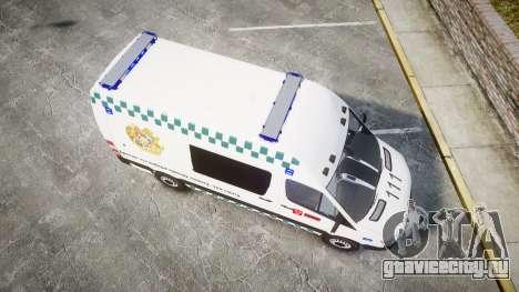 Mercedes-Benz Sprinter ARM Ambulance [ELS] для GTA 4 вид справа