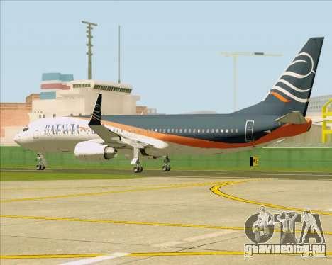 Boeing 737-800 Batavia Air (New Livery) для GTA San Andreas вид изнутри