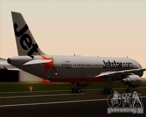 Airbus A320-200 Jetstar Airways для GTA San Andreas колёса