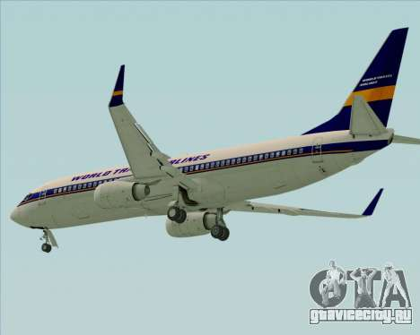 Boeing 737-800 World Travel Airlines (WTA) для GTA San Andreas вид сзади слева