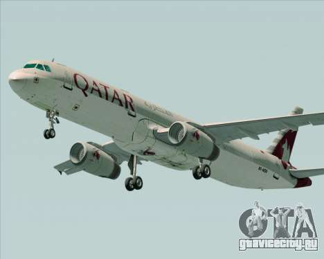Airbus A321-200 Qatar Airways для GTA San Andreas вид справа