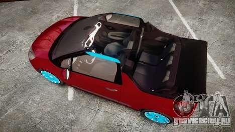 Citroen DS3 Convertible для GTA 4 вид справа