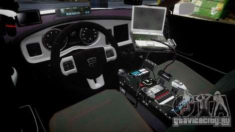 Dodge Charger RT 2013 PS Police [ELS] для GTA 4 вид сзади