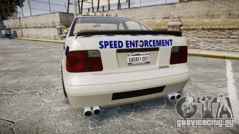 Declasse Merit Police Patrol Speed Enforcement для GTA 4 вид сзади слева