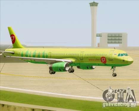 Airbus A321-200 S7 - Siberia Airlines для GTA San Andreas вид сверху