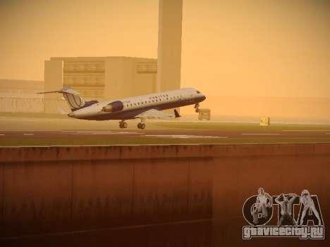Bombardier CRJ-700 United Express для GTA San Andreas вид снизу