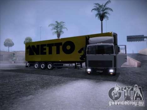 Trailer NETTO для GTA San Andreas вид справа