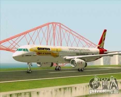 Airbus A321-200 Qantas (Wallabies Livery) для GTA San Andreas вид изнутри