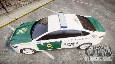 Ford Mondeo 2014 Guardia Civil Cops [ELS] для GTA 4 вид справа