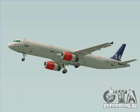 Airbus A321-200 Scandinavian Airlines System для GTA San Andreas вид справа