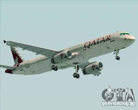 Airbus A321-200 Qatar Airways для GTA San Andreas вид слева