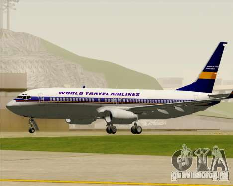 Boeing 737-800 World Travel Airlines (WTA) для GTA San Andreas вид сбоку
