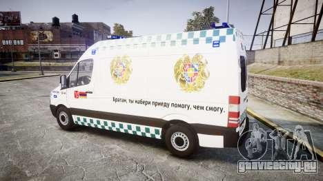 Mercedes-Benz Sprinter ARM Ambulance [ELS] для GTA 4 вид слева