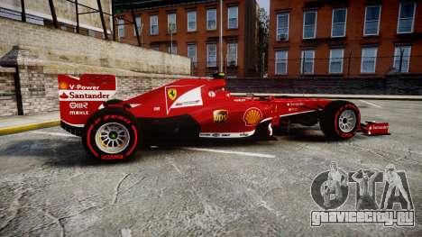 Ferrari F138 v2.0 [RIV] Massa TSSD для GTA 4 вид слева