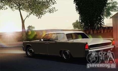 Lincoln Continental Sedan (53А) 1962 (HQLM) для GTA San Andreas вид слева