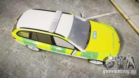 BMW 530d F11 Ambulance [ELS] для GTA 4 вид справа