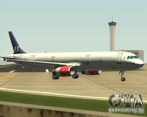 Airbus A321-200 Scandinavian Airlines System для GTA San Andreas