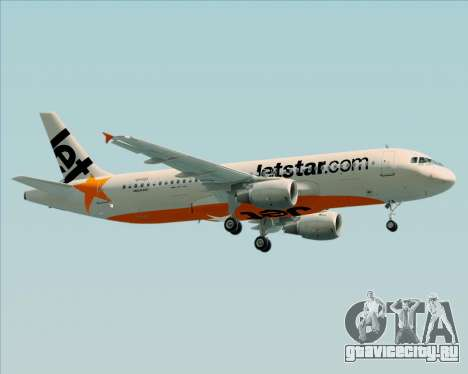 Airbus A320-200 Jetstar Airways для GTA San Andreas вид изнутри