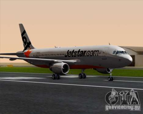 Airbus A320-200 Jetstar Airways для GTA San Andreas вид слева