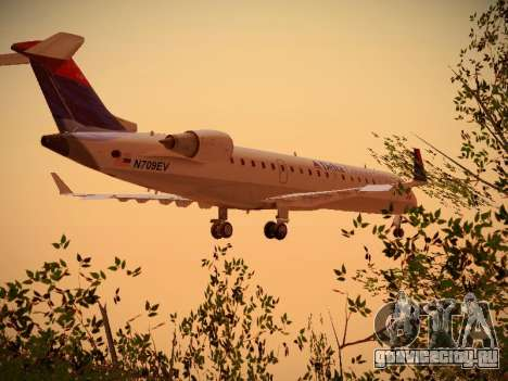 Bombardier CRJ-700 Delta Connection для GTA San Andreas вид сзади