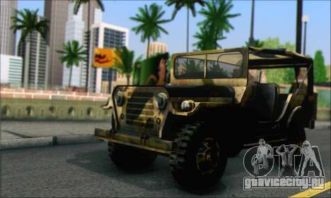 Iguana From Mercenaries 2 World in Flames для GTA San Andreas вид сзади слева