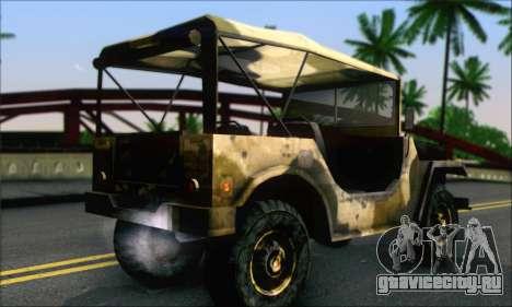 Iguana From Mercenaries 2 World in Flames для GTA San Andreas вид слева