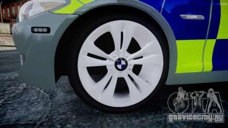 BMW 530d F11 Metropolitan Police [ELS] SEG для GTA 4 вид справа
