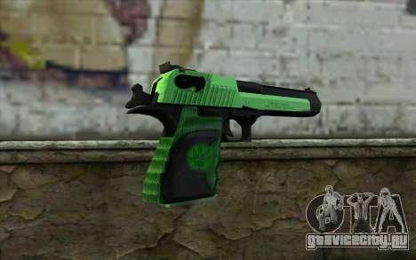 Зеленый Desert Eagle для GTA San Andreas второй скриншот