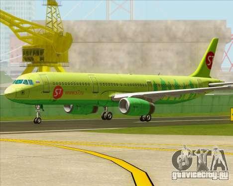 Airbus A321-200 S7 - Siberia Airlines для GTA San Andreas вид слева
