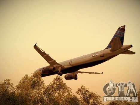 Airbus A321-232 jetBlue Red White and Blue для GTA San Andreas салон