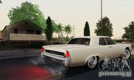 Lincoln Continental Sedan (53А) 1962 (HQLM) для GTA San Andreas вид справа