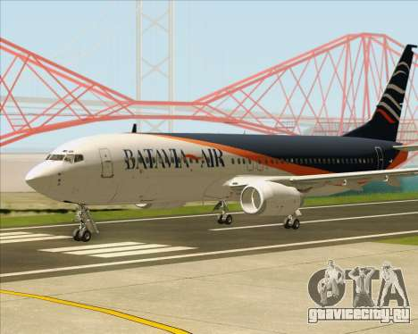 Boeing 737-800 Batavia Air (New Livery) для GTA San Andreas вид сзади слева