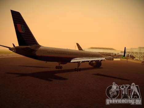 Boeing 757-224 United Airlines для GTA San Andreas вид справа