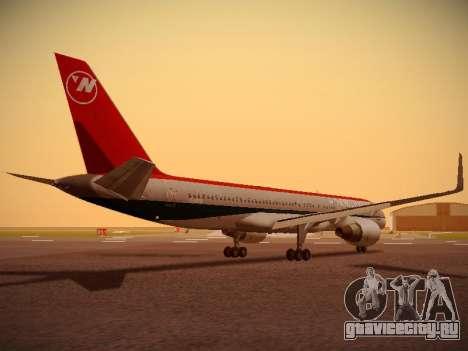 Boeing 757-251 Northwest Airlines для GTA San Andreas вид справа