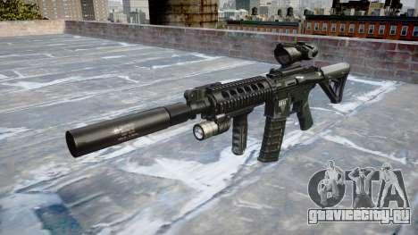 Автомат Tactical M4A1 CQB target для GTA 4