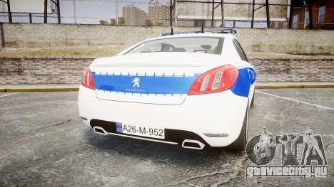 Peugeot 508 Republic of Srpska [ELS] для GTA 4 вид сзади слева