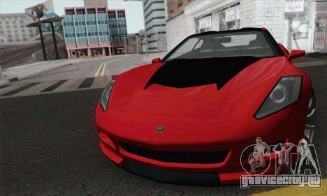 GTA 5 Invetero Coquette для GTA San Andreas вид сзади слева