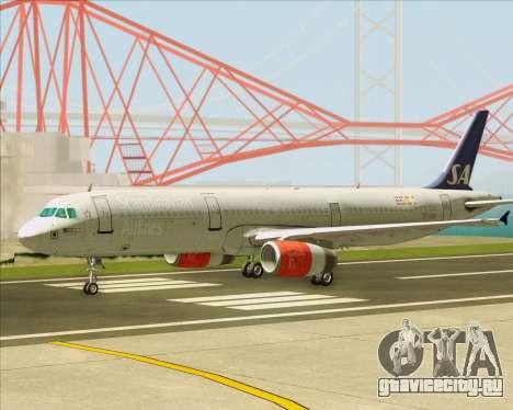 Airbus A321-200 Scandinavian Airlines System для GTA San Andreas вид изнутри