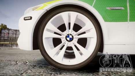 BMW 530d F11 Ambulance [ELS] для GTA 4 вид сзади