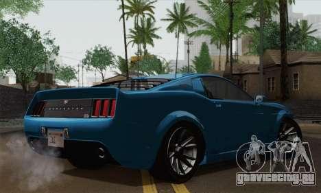 GTA 5 Dominator для GTA San Andreas вид слева