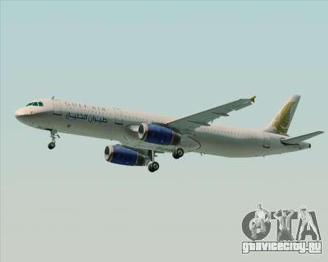 Airbus A321-200 Gulf Air для GTA San Andreas вид сзади